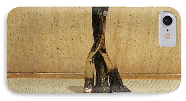 Freestanding Legwork Bronze Sculpture With Brass And Opaque Surfaces  Phone Case by Rachel Hershkovitz