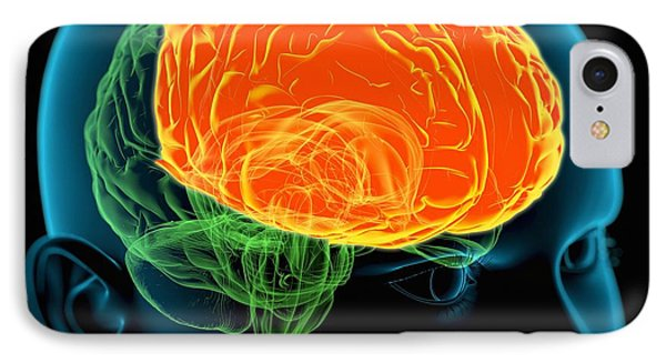Frontal Lobes In The Brain, Artwork Phone Case by Roger Harris