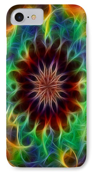 Funky Fractal Kaleidoscope Two IPhone Case by Gina Lee Manley