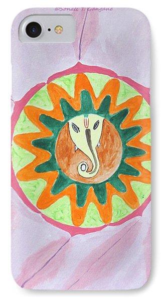 Ganesh Mandala Phone Case by Sonali Gangane