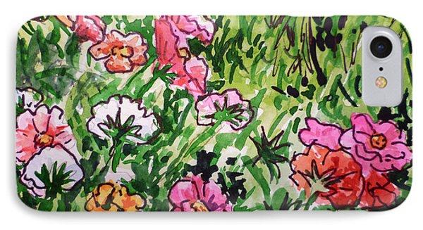 Garden Flowers Sketchbook Project Down My Street Phone Case by Irina Sztukowski