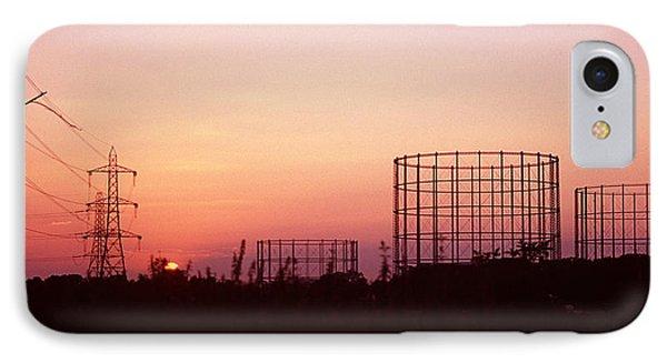 Gas Storage Tanks IPhone Case by Victor De Schwanberg