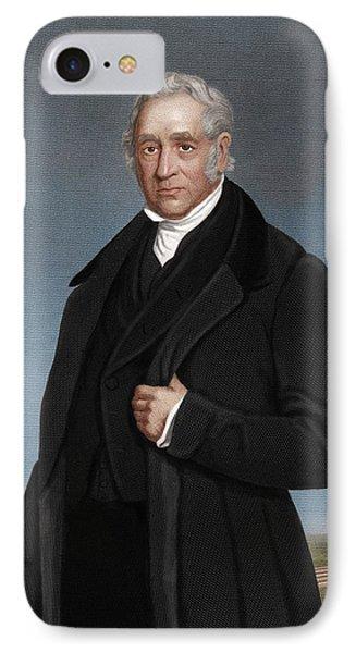 George Stephenson, British Engineer IPhone Case by Maria Platt-evans