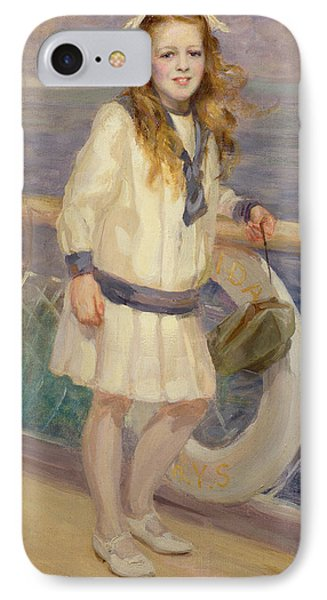 Girl In A Sailor Suit Phone Case by Charles Sims