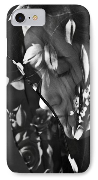 Girl With A Rose Veil 1 Bw IPhone Case by Angelina Vick
