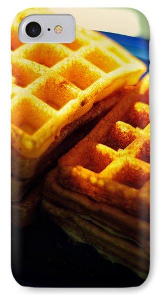 Golden Waffles Phone Case by Rebecca Sherman