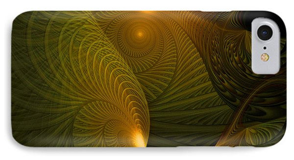 Golden Waves Phone Case by Amanda Moore