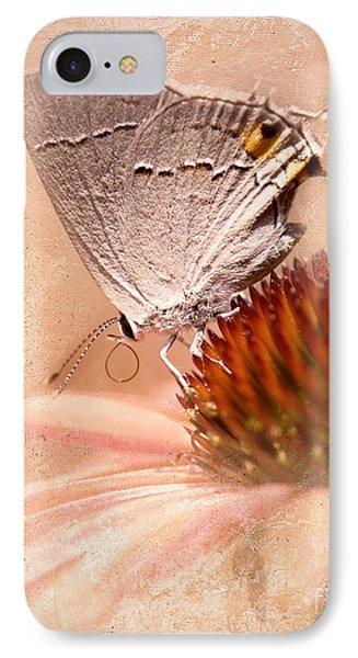 Gray Hairstreak Butterfly Phone Case by Betty LaRue