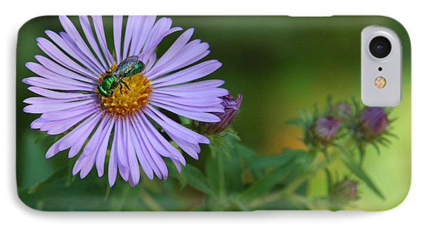 Green And Purple Phone Case by Doris Potter