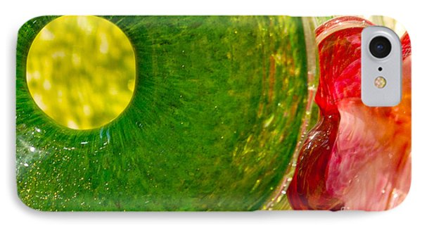 Green And Red Phone Case by Artist and Photographer Laura Wrede