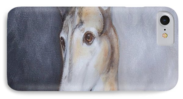 Greyhound In Thought Phone Case by George Pedro