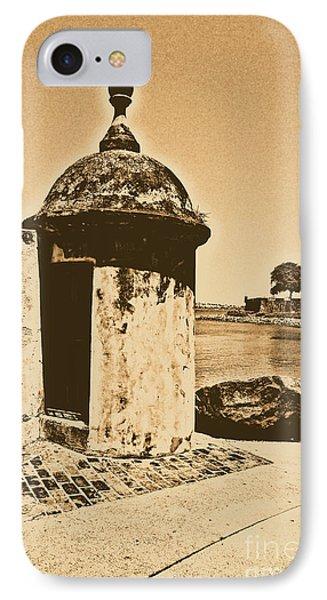 Guard Post Castillo San Felipe Del Morro San Juan Puerto Rico Rustic Phone Case by Shawn O'Brien