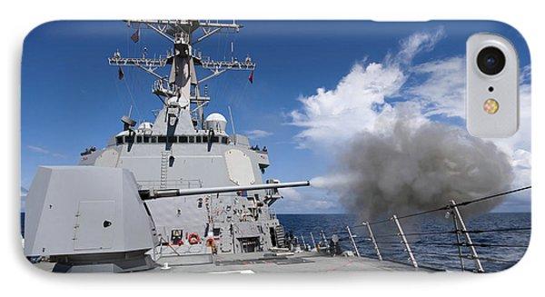 Guided-missile Destroyer Uss Pinckney Phone Case by Stocktrek Images