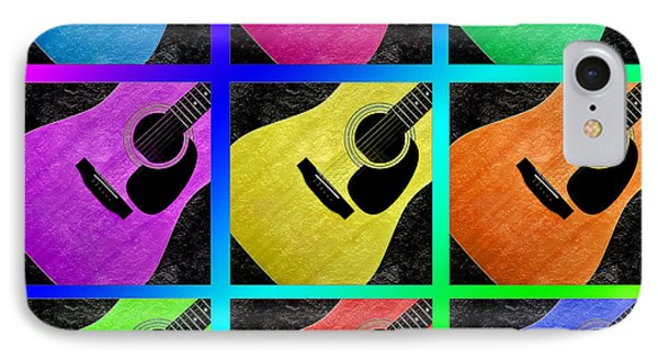 Guitar Tic Tac Toe Rainbow Phone Case by Andee Design