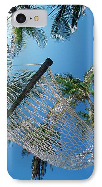 Hammock And Palm Tree, Great Barrier Phone Case by Ron Watts