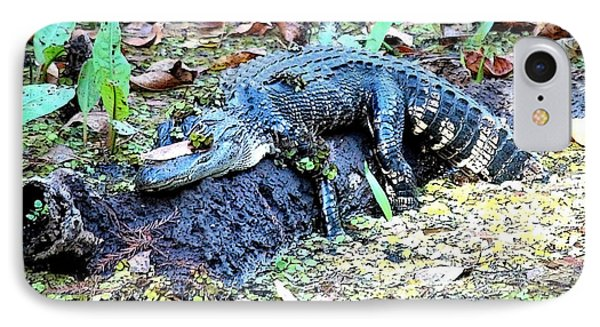 Hard Day In The Swamp - Digital Art IPhone 7 Case by Carol Groenen