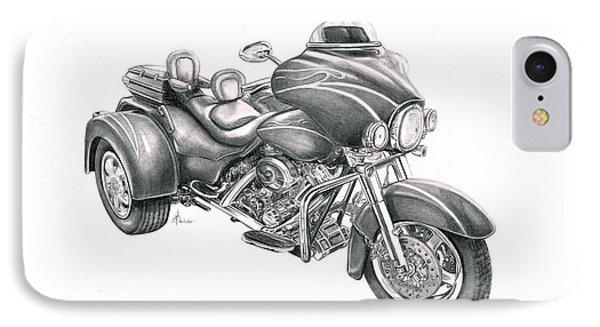 Harley Davidson Trike Phone Case by Murphy Elliott