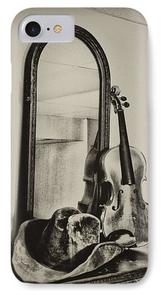 Hat And Fiddle Phone Case by Bill Cannon