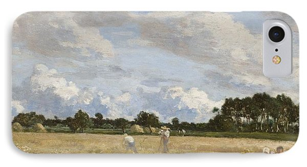 Haymaking Phone Case by Eugene Louis Boudin