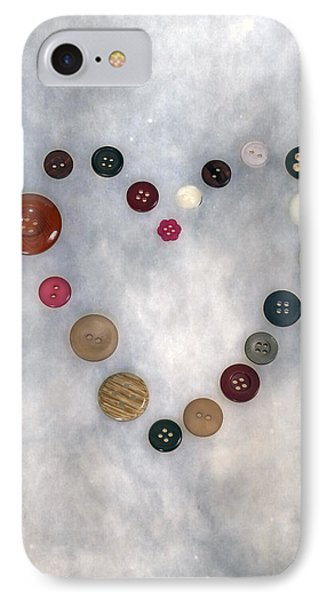 Heart Of Buttons IPhone Case by Joana Kruse