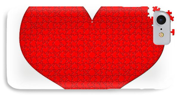Heart Puzzle Phone Case by Hans Engbers