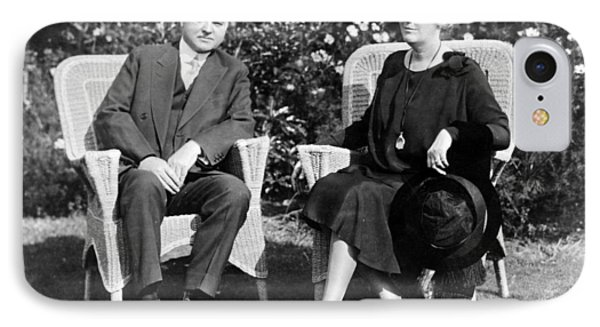 Herbert Hoover Seated With His Wife Phone Case by International  Images