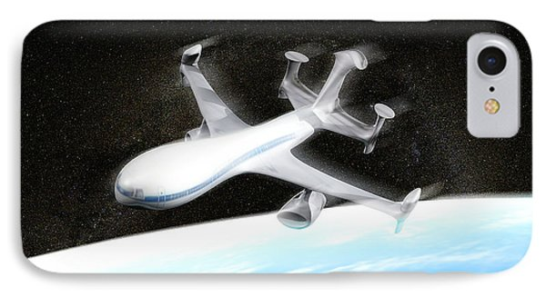 High Altitude Passenger Plane, Artwork Phone Case by Christian Darkin