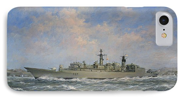 H.m.s. Chatham Type 22 - Batch 3 IPhone Case by Richard Willis