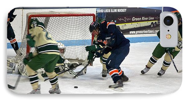 Hockey One On Four Phone Case by Thomas Woolworth