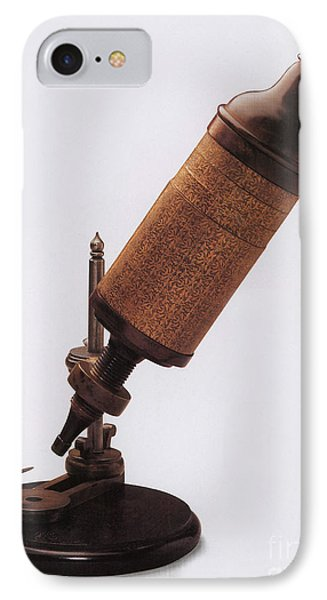 Hookes Microscope Phone Case by Photo Researchers