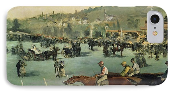 Horse Racing IPhone Case by Edouard Manet