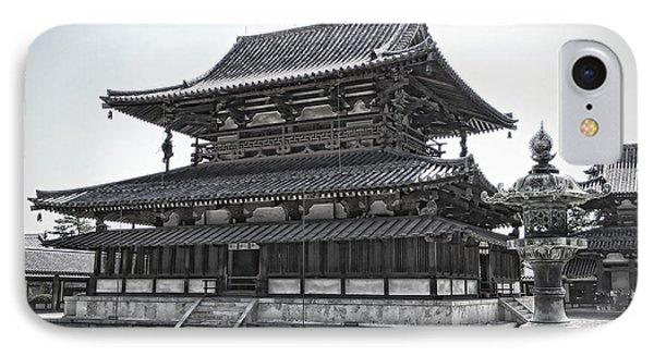 Horyu-ji Temple Golden Hall - Nara Japan IPhone Case by Daniel Hagerman