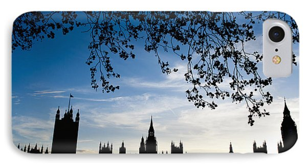 Houses Of Parliament Silhouette Phone Case by Axiom Photographic