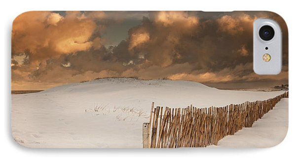 Illuminated Clouds Glowing Over A Snow Phone Case by John Short