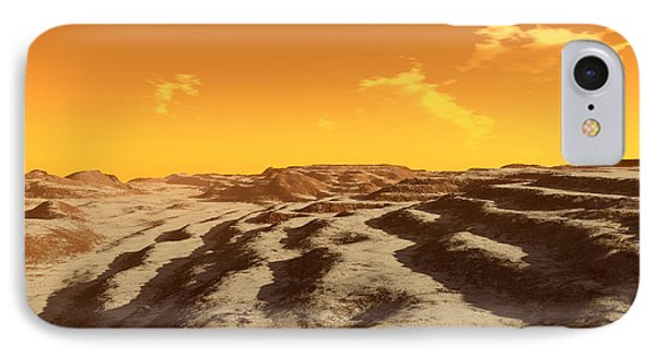 Illustration Of Terraced Terrain Phone Case by Ron Miller