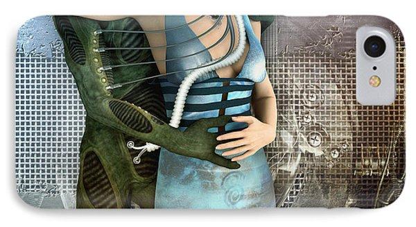 In Love With An Alien Phone Case by Jutta Maria Pusl