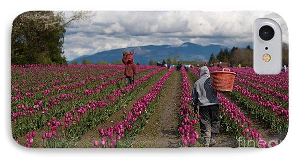In The Tulip Fields Phone Case by Mike Reid