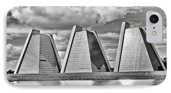 Indianapolis Pyramids Phone Case by David Haskett
