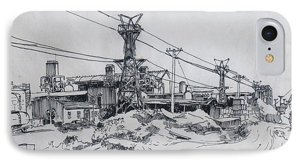 Industrial Site IPhone Case by Ylli Haruni