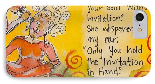 Invitation In Hand Phone Case by Ilisa  Millermoon