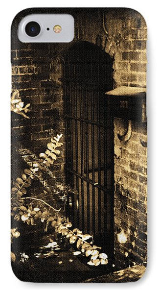 Iron Door Sepia Phone Case by Kelly Hazel