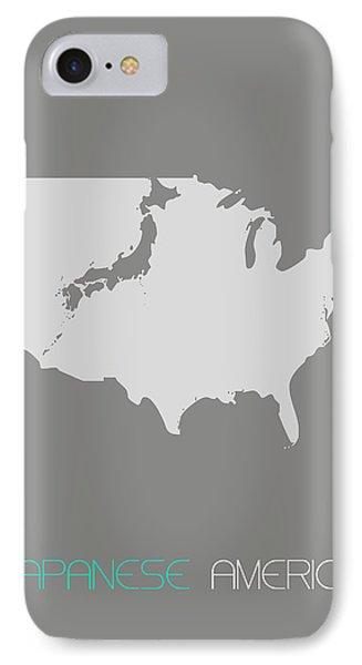 Japanese America Phone Case by Naxart Studio