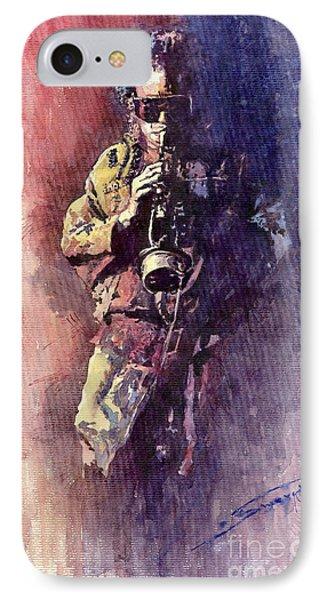 Jazz Miles Davis Maditation Phone Case by Yuriy  Shevchuk