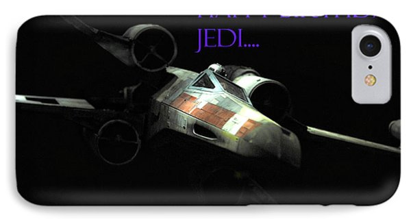 Jedi Birthday Card IPhone Case by Micah May