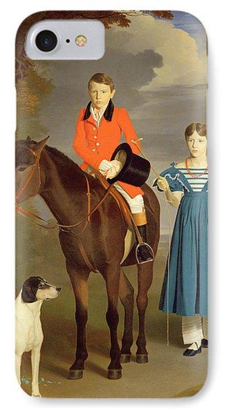John Gubbins Newton And His Sister Mary Phone Case by Robert Burnard
