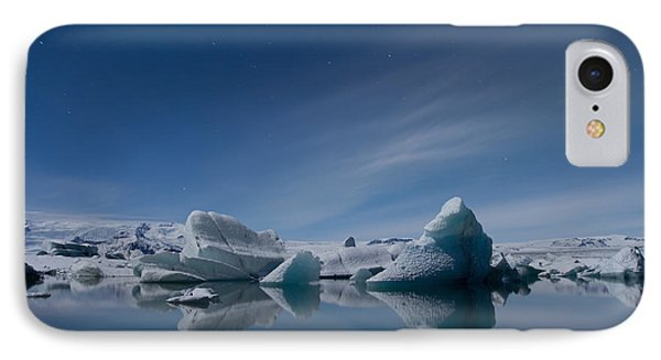 Jokulsarlon At Night IPhone Case by Andres Leon