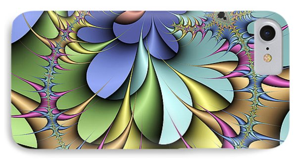 Julia Fractal IPhone Case by Victor Habbick Visions