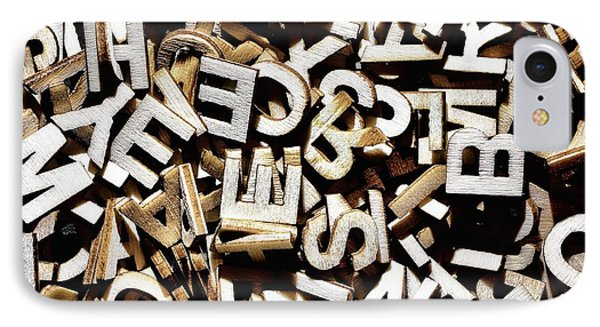 Jumbled Letters IPhone Case by Simon Bratt Photography LRPS
