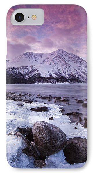 Kathleen Lake At Sunrise, Kluane Phone Case by Robert Postma