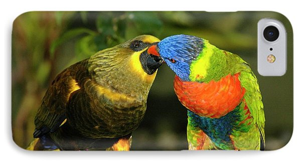 Kissing Birds IPhone Case by Carolyn Marshall